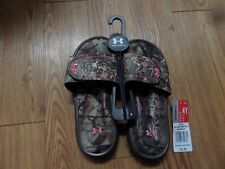 Under Armour Girls UA Camo Sandals Realtree Mossy Oak  Size 3 Youth NEW-4d foam