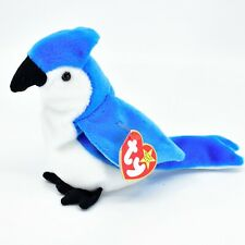 1997 TY Beanie Baby Original Rocket Bluejay Bird Plush Beanbag Toy Doll
