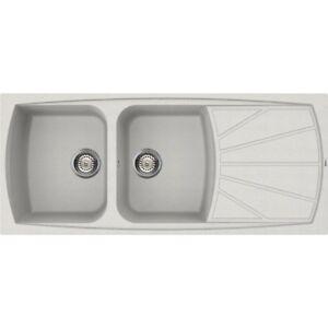 Lavello Elleci Incasso Cucina Living 2 Vasche LGL50052NA 116x50 Bianco Pietra