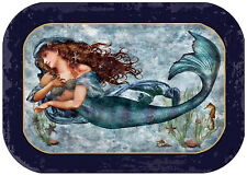 Metal Serving Tray  Food Safe Mermaid Beauty Under the Sea Nautical Beach Decor
