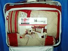 Comforter Bed Set 16 Piece The Great Find Delancey Red New In Bag, Amazing Deal