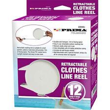 12 m rétractable vêtements Moulinet Ligne Revêtement PVC Sèche-linge lavage extérieur fixations Home