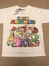 "MOSCHINO X JEREMY SCOTT X NINTENDO ""SUPER MOSCHINO"" MARIO & FRIENDS T-SHIRT SZ M"
