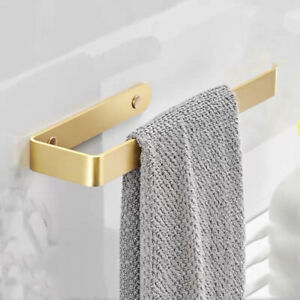 Brushed Gold Aluminum Towel Ring Bathroom Toilet Wall Mount Towel Holder Hook