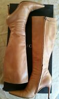 Gucci Knee high pointed toe stiletto boots
