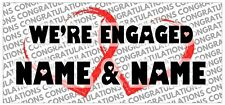 2 PERSONALISED Congratulations Engaged Engagement Party Banners Decorations