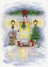 "Counted Cross Stitch Kit Aquarelle by MP Studio A-018 - ""New Year""s Door"""