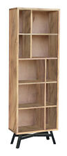 Regal Bücherregal Schrank Akazie Massivholz massiv Holz Retro Nordic Loft NEU
