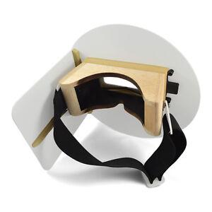Wendy's Pancake Welding Hood Helmet w/ Strap - Right Handed - White