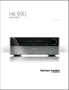 Harman Kardon HK990 Integrated Amplifier Owner's Manual - Operating Instructions