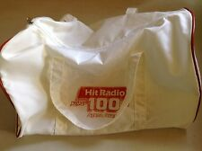 Vintage Guam Hit Radio 100 Koku FM White Duffel Bag Agana Old School Chamorro