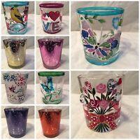 6cm Glass Votive / Sampler / Tea Light Holders - Various designs