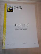"REVUE ""HERESIS no 8"" (1987) CATHARISME / CATHARE / ALBIGEOIS"