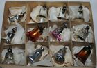 12 little antique Glass BELLS for CHRISTMAS FEATHER TREE. GERMANY