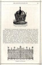 Krone Rotunde & Eisengitter Jurypavillon Wien Holzschnitt-Vignette von 1873