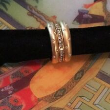 Of Stack Rings(3) Nwot Goldtone and Crystal Set