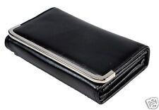 New Womens Lady Leather Fashion Purse Wallet Handbag Clutch Card Holder Black