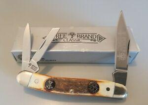 Boker Tree Brand Classic 3 Blade Stockman Stag Handle Pocket knife