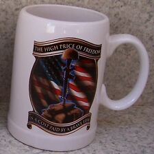 Coffee Mug Military The High Cost of Freedom New 20 ounce cup with gift box
