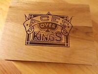 2 ACES OVER KINGS WORLD CHAMPIONSHIP POKER TOURNAMENT PLAYING CARDS IN WOOD BOX