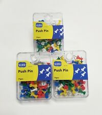 225 Pcs Push Pin Pins Thumb Tack Multi Color 38 Head For Office School Home