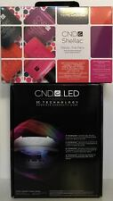 CND Shellac Set ~ LED LIGHT LAMP 9200 + TRENDY Gel Power Polish Intro Kit NIB
