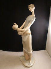 "Lladro ""Motherhood"" #4575 Mother and Baby Gloss Finish 12.5"""
