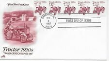 US Scott #2127, First Day Cover 2/6/87 Sarasota, FL Plate #1 Coil Tractor