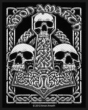 Amon Amarth - Thorshammer Thorhammer Three Skulls Aufnäher Patch Viking Metal