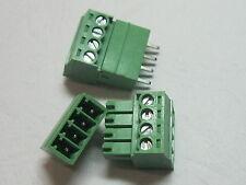 100 pcs 4pin/way Pitch 3.5mm Screw Terminal Block Connector Green Pluggable Type