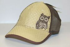 Owl Trucker Straw Ball Cap  - Hooters hat - NEW - One Size Fits Most