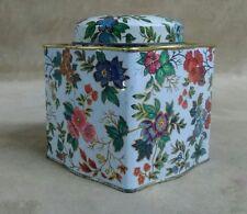 Vintage Daner Long Island Ny Floral Design Tin Made in England old good shape