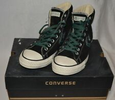 Converse Black Suede Green Star Unisex Sz. 8/10 High Top Star Player EV MID