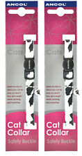Ancol Camouflage Cat Collar Black/White 2 Pack Deal