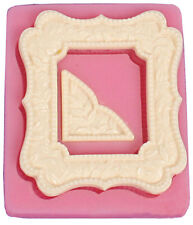 Pretty Frame with Corner Silicone Mold for Fondant, Chocolate, Crafts