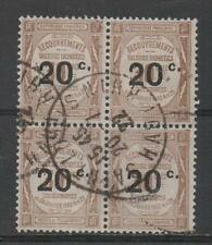 Z505 Frankrijk Port 42 gestempeld blok van 4