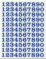 PLANCHE 14X10,5CM DE 110 AUTOCOLLANT STICKER CHIFFRE BLEU FONCE 1X0,8CM