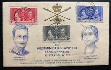 1937 Berbera Somaliland King George VI Coronation FDC First Day Cover KGVI