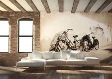 Large PHOTO WALLPAPER bedroom & living room WALL MURAL Old Bikes retro