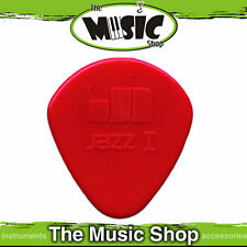10 x Jim Dunlop Nylon Jazz 1 Guitar Picks - 1.10mm with Round Tip - Red Plectrum