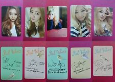 LOT of 5 RED VELVET Official PHOTOCARD Ice Cream Cake 1st Album Photo Card 레드벨벳