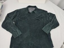 Mo55 Issue Moss issue Authentic Woven Dark Gray Western Snap Shirt Large