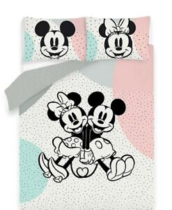 Disney Mickey And Minnie Double Panel Reversible Duvet Set Kids