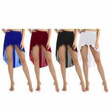 Trajes de danza del vientre para Mujeres Chicas Falda asimétrica Alto Bajo rendimiento del panel