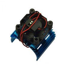 RC EP Electric 1/10 Car 540 Motor Upgrade Alloy Heat Sink With Fan Heatsink Blue