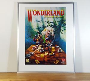 💥 WONDERLAND ~ Magnetic Scrolls 1990 Original Amiga Game Poster Plakat Framed