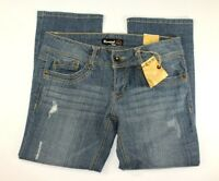NWT Rewind Womens Jeans Size 11 Blue Denim Factory Distressed 32x 26 5 Pocket