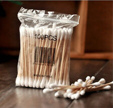 new Safety Cotton Swabs Applicator Q-tip Wood Handle Sturdy Cosmetic Applicators