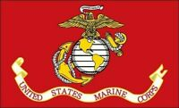 "United States Marine Corps Flag Sticker Decal (usmc semper fi) 4 Pack of 2.5"""