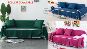 1/2/3/4 Seat Stretch Spandex Sofa Couch Cover Elastic Slipcover Protector Pillow